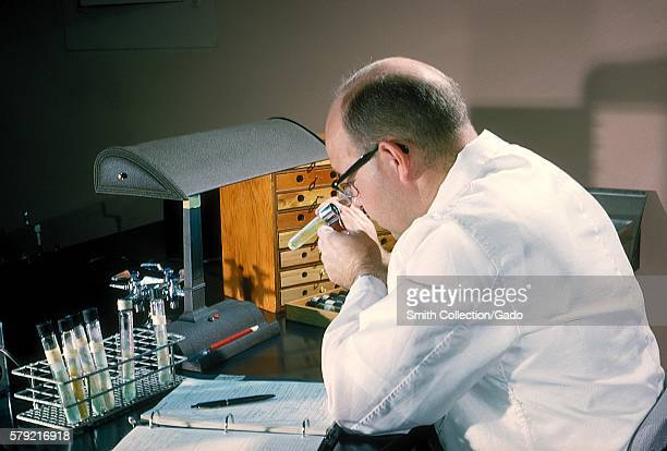 Laboratory technicians are careful to take meticulous notes when practicing correct laboratory technique 1963 Here laboratory technique is practiced...