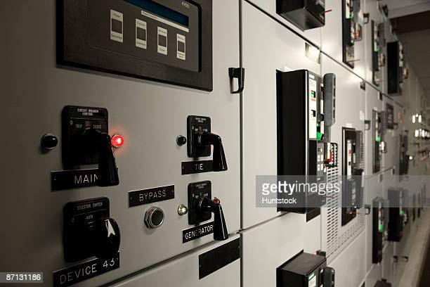 Laboratory with circuit breaker controls