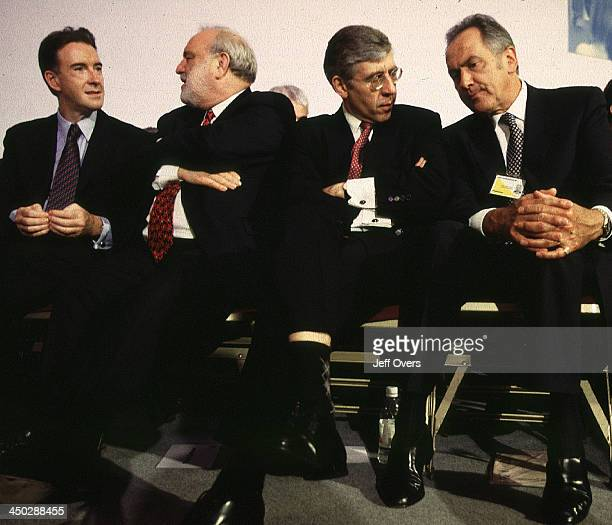 Labour Cabinet Ministers at Party Conference talking animatedly