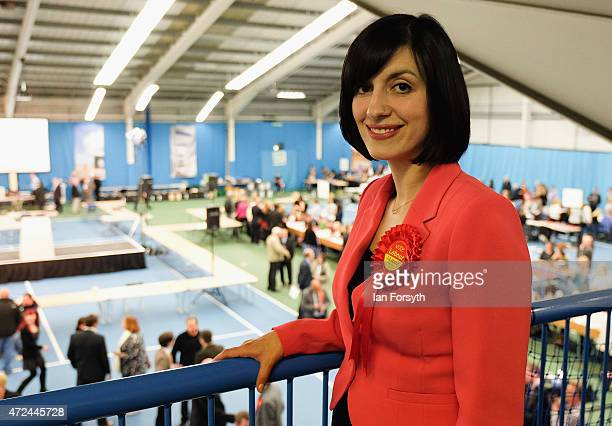 Labour candidate Bridget Phillipson poses for a picture on the balcony overlooking the floor of the count after securing victory in the Houghton and...