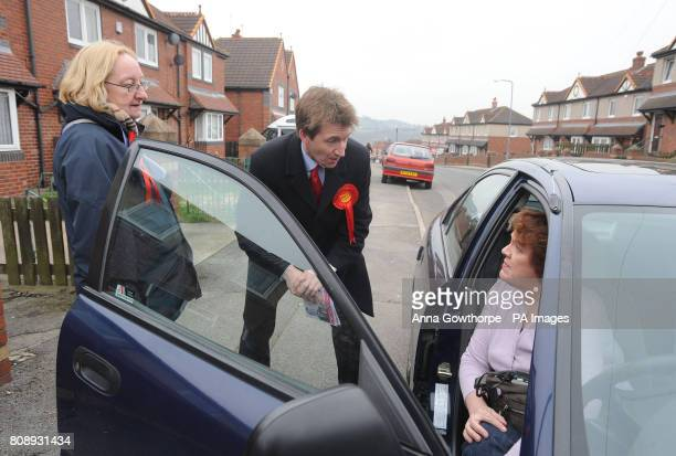 Labour candidate Dan Jarvis meets members of the public in Barnsley as voting gets underway in the Barnsley central byelection