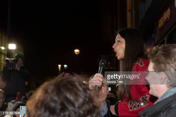 Labour candidate for Chingford and Woodford Green Faiza Shaheen campaigns on December 4 2019 in Chingford England The UK will go to the polls on...