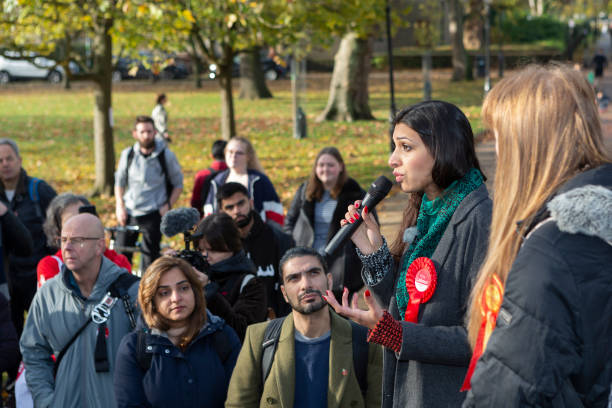GBR: Labour Candidate Faiza Shaheen For Chingford And Woodford Green Campaigns In Chingford With Shadow Education Secretary And Candidate For For Ashton-Under-Lyne Angela Rayner