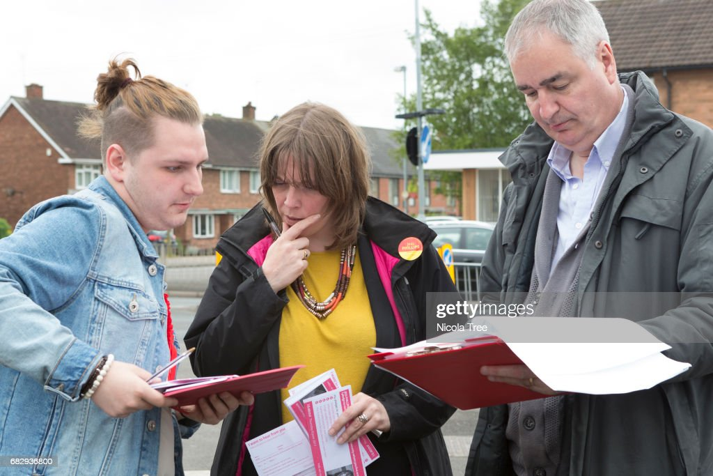 Labour Candidate Jess Phillips Campaigns In Her Birmingham And Yardley Constituency : News Photo