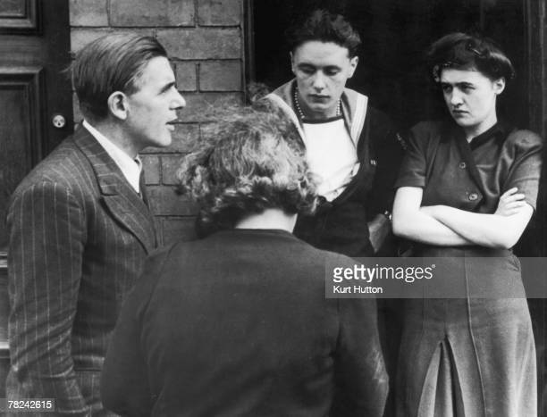 Labour candidate Richard Crossman canvasses the electorate in Coventry East during the 1945 election 7th July 1945 Original Publication Picture Post...
