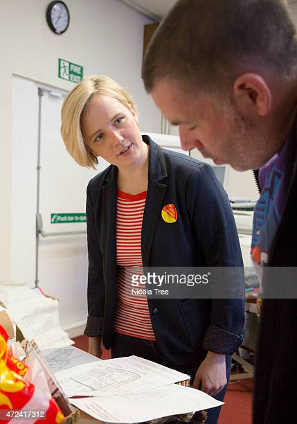 Labour candidate Stella Creasy having a Campaign meeting for Polling day at Orford Road Walthamstow on April 30th 2015 Stella is campaigning in her...