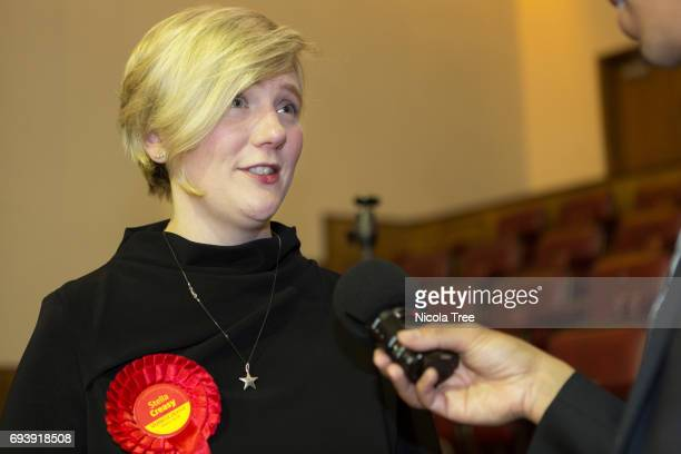 Labour Candidate Stella Creasy is interviewed at the Waltham Forest count on June 8 2017 in London England After a snap election was called the...