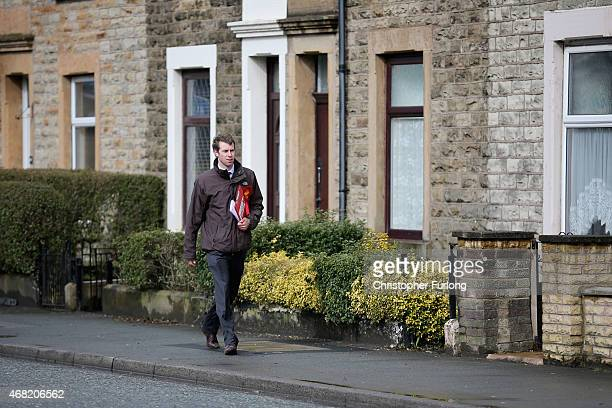Labour candidate Will Straw walks the streets of Earcup ward in Blackburn canvassing for votes in the Rossendale and Darwen constituency of the 2015...