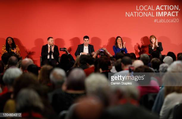Labour candidates Dawn Butler Ian Murray Richard Burgon Rosena AllinKhan and Angela Rayner take part in the Deputy Leadership hustings on February 08...
