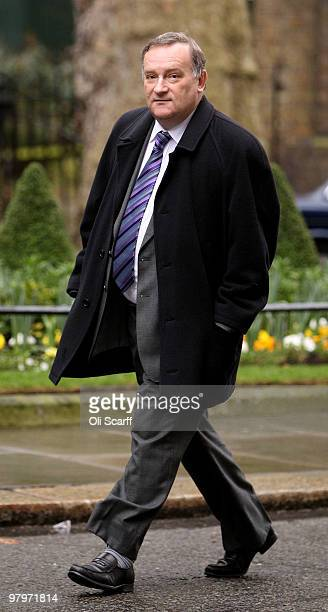 Labour chief whip Nick Brown arrives at Number 10 Downing Street on March 23 2010 in London England Alistair Darling the Chancellor of the Exchequer...
