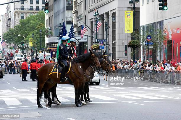labour day parade in manhattan - labour day stock photos and pictures