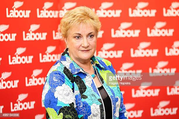 Labour Deputy Leader Annette King looks on during a press conference to announce a new Shadow Cabinet on November 30 2015 in Wellington New Zealand...