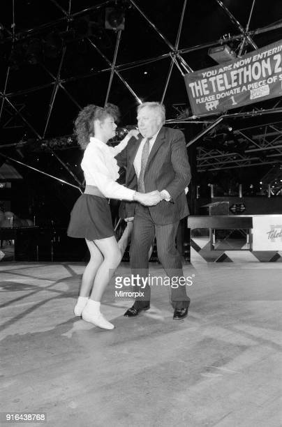 Labour Deputy Leader Roy Hattersley dances the Lambada with champion Jane Mytton from Kings Norton at the Dome Nightclub 20th March 1990