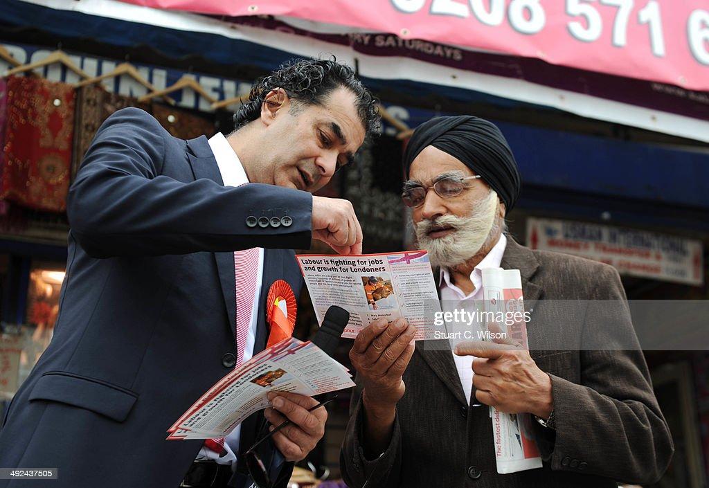 Labour MEP Claude Moraes  Canvasses Ahead Of The European Elections : News Photo