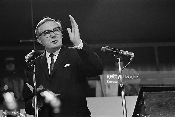Labour Home Secretary James Callaghan speaking at the Labour Party Conference in Brighton, England, 1969.