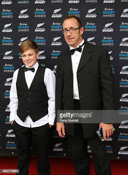 Labour leader Andrew Little arrives at the 2014 Steinlager Awards at the Viaduct Events Centre on December 11 2014 in Auckland New Zealand