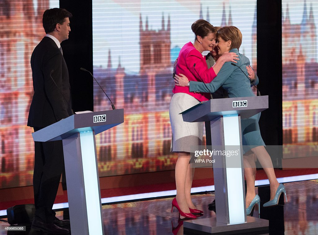 Five Leaders Of Britain's Political Parties Join Televised Debate