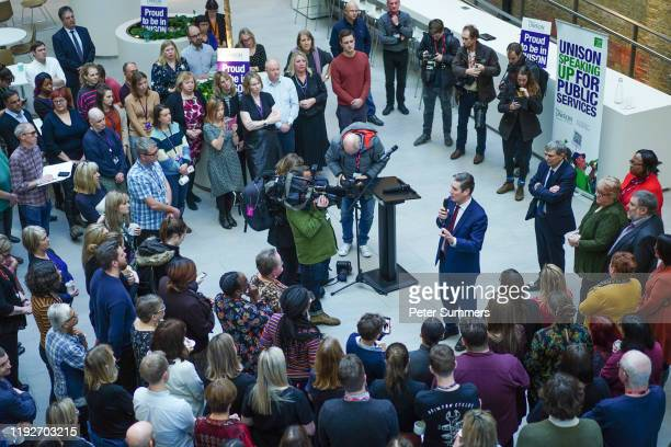 Labour leader hopeful Keir Starmer speaks at Unison on January 9 2020 in London England Keir Starmer is running for leader of the Labour Party...