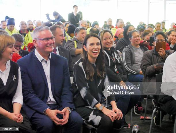 Labour Leader Jacinda Ardern attends a labour union meeting on September 20 2017 in Auckland New Zealand