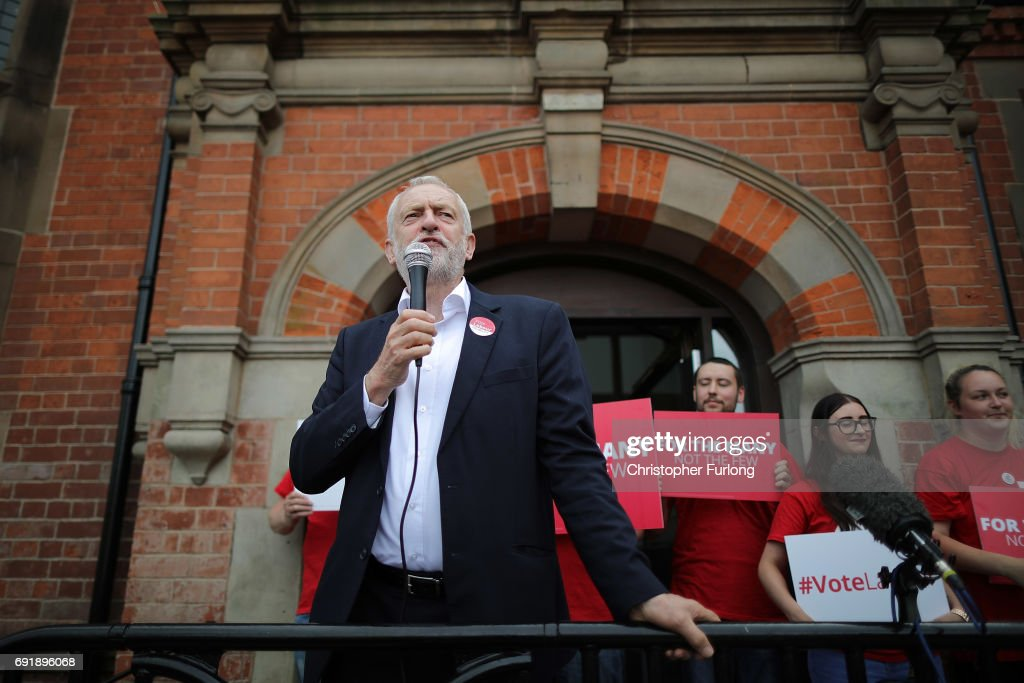 Jeremy Corbyn Visits The East Midlands On The Final Weekend Of The Election Campaign : News Photo