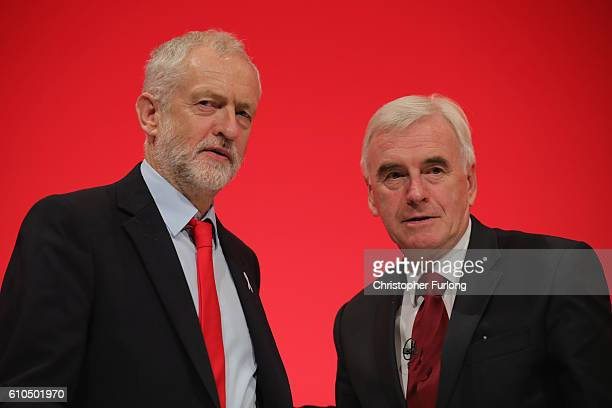 Labour Leader Jeremy Corbyn after Shadow Chancellor John McDonnell delivered his keynote speech to the Labour Party Conference on September 26 2016...