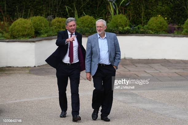 Labour leader Jeremy Corbyn and Scottish Labour Richard Leonard hold a photocall with Labour's early selected candidates in target Westminster...