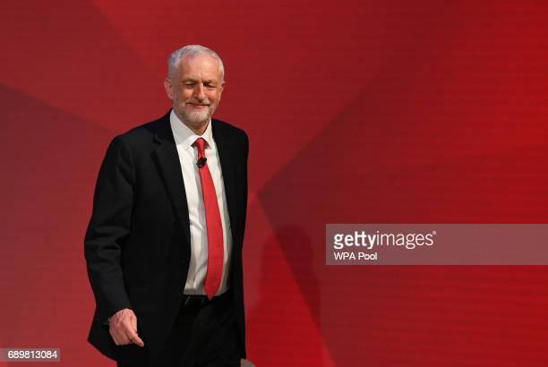Labour leader Jeremy Corbyn appears on a joint Channel 4 and Sky News general election programme 'May v Corbyn Live The Battle for Number 10' at Sky...