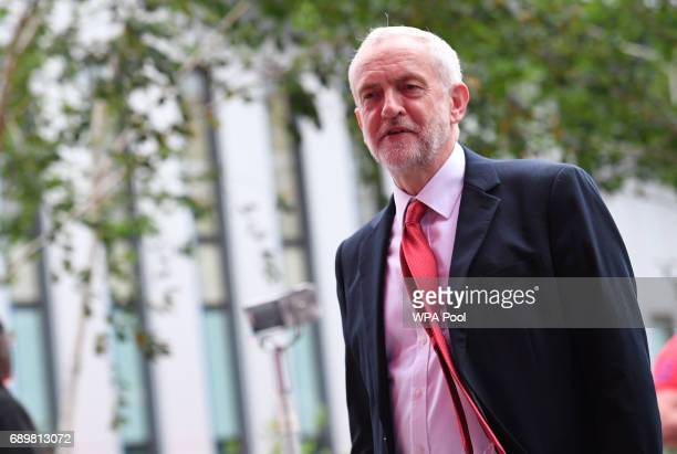 Labour leader Jeremy Corbyn arrives at Sky studios in Osterley west London to take part in a joint Channel 4 and Sky News general election programme...