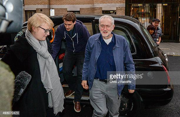 Labour leader Jeremy Corbyn arrives at the CND conference on October 17 2015 in London England The newly elected Labour Party leader Jeremy Corbyn...