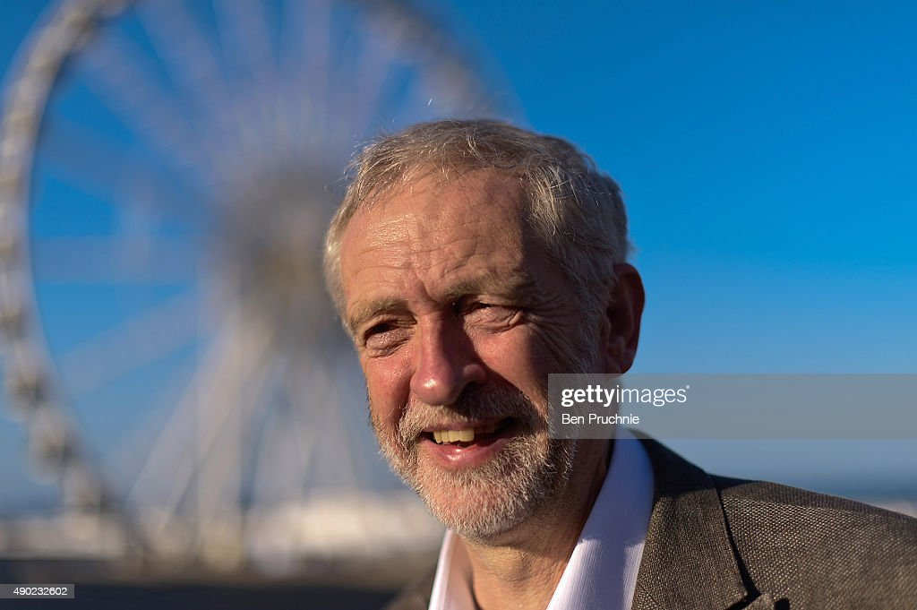 Labour Leader Jeremy Corbyn arrives for an appearance on the Andrew Marr show ahead of the Labour Party Autumn Conference on September 27, 2015 in Brighton, England. Starting today the four-day annual Labour Party Conference takes place in Brighton and is expected to attract thousands of delegates with keynote speeches from influential politicians and over 500 fringe events.