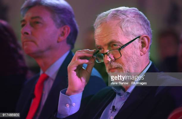 Labour leader Jeremy Corbyn at a campaign rally at the Shottstown Miners Welfare Hall Penicuik Midlothian as he begins a campaign tour across parts...