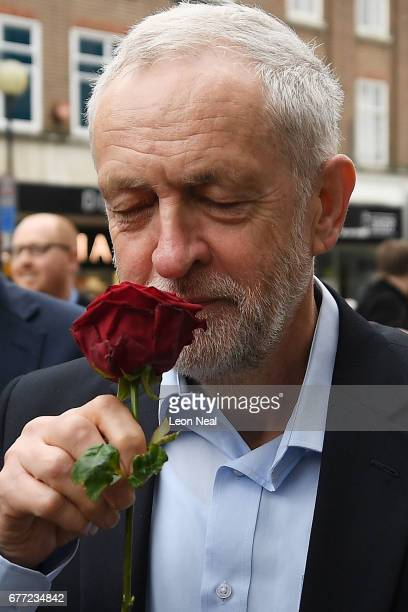 Labour leader Jeremy Corbyn attends a Labour Party general election campaign event on May 3 2017 in Bedford England The Prime Minister visited HM The...
