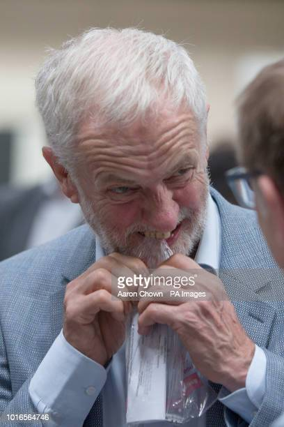 Labour leader Jeremy Corbyn during his visit to DePe Gear CO LTD StokeonTrent Corbyn came under attack from Israeli Prime Minister Benjamin Netanyahu...