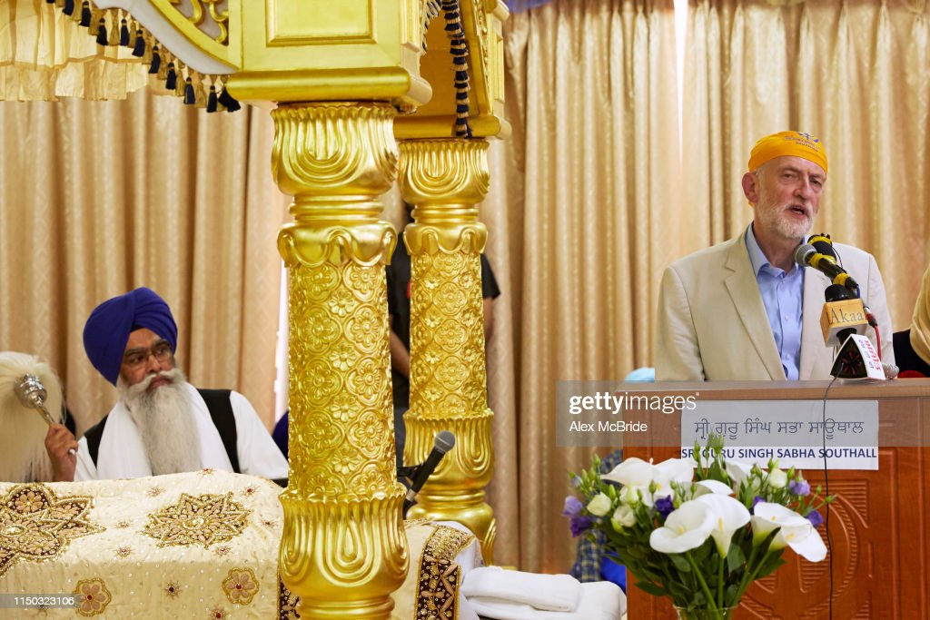 GBR: Jeremy Corbyn And John McDonnell Campaign In The Sikh Community