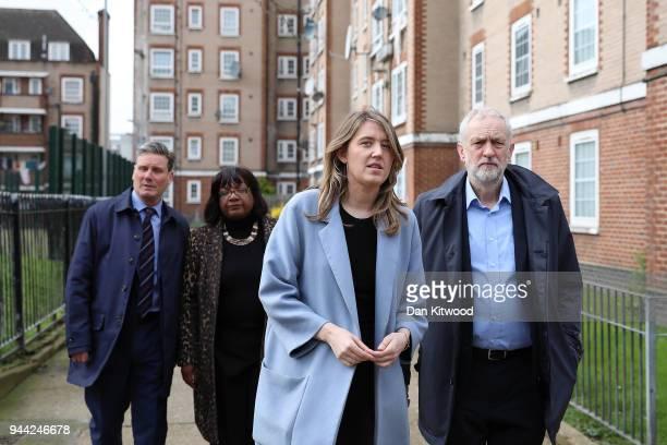 Labour leader Jeremy Corbyn Leader of Camden Borough Council Georgia Gould Shadow Home Secretary Diane Abbott and Shadow Brexit Secretary Sir Keir...