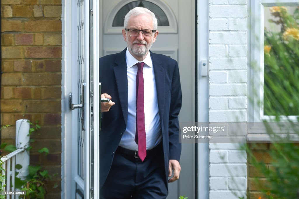 GBR: Jeremy Corbyn Leaves Home After Labour Punished In EU Election
