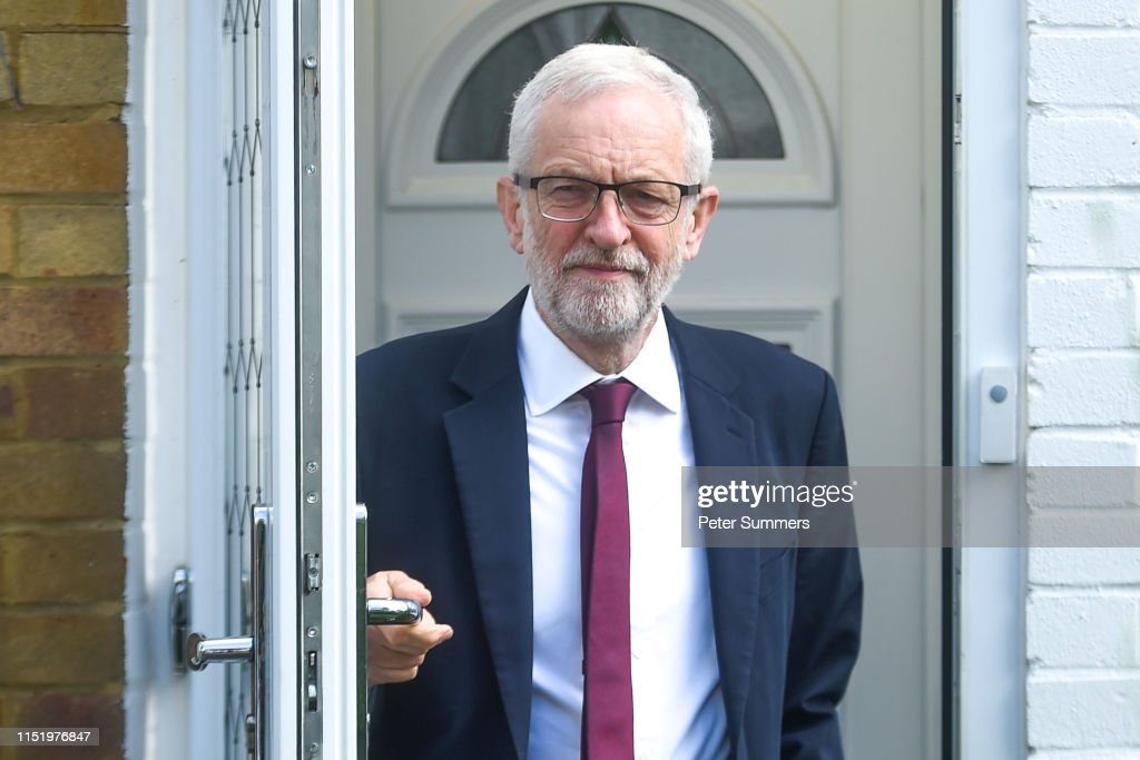Jeremy Corbyn Leaves Home After Labour Punished In EU Election : News Photo