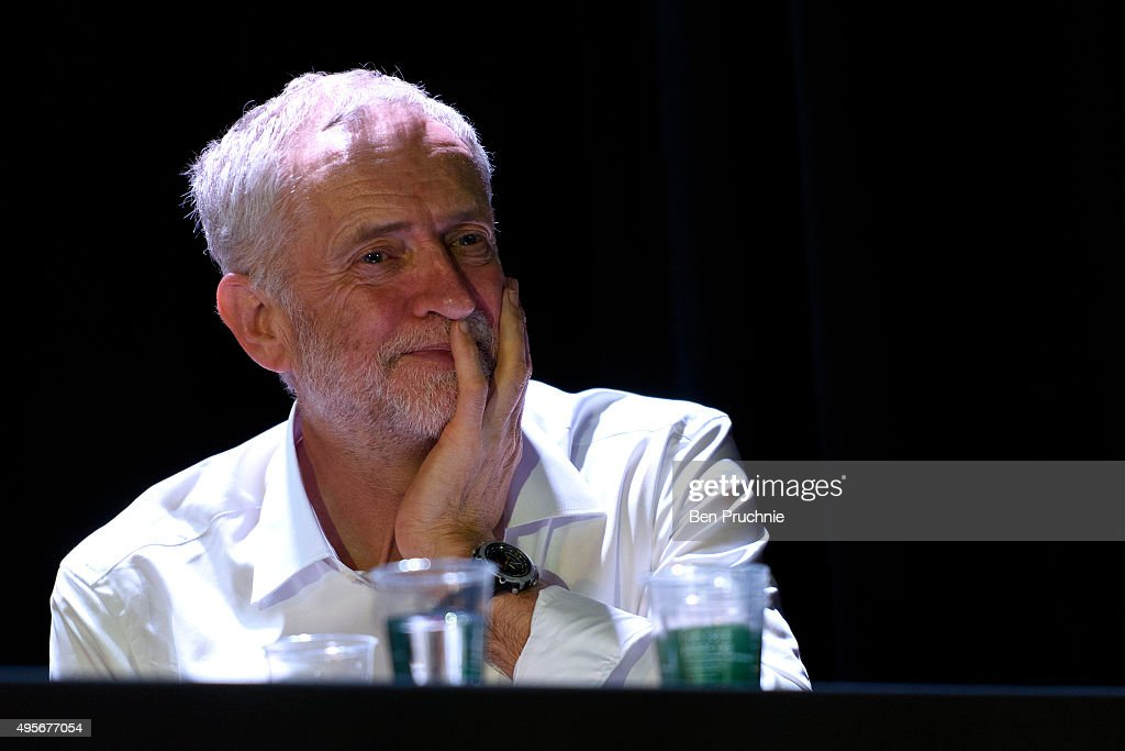Jeremy Corbyn Addresses A Refugees Welcome Here Rally : News Photo
