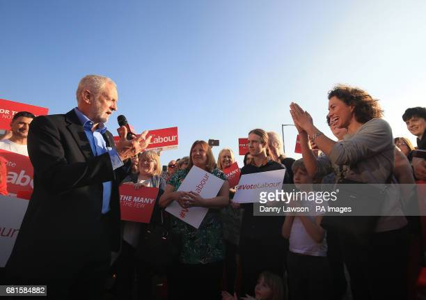 Labour leader Jeremy Corbyn makes a speech on the general election campaign trail in Rotherham