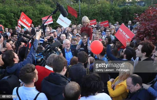 Labour leader Jeremy Corbyn makes a speech on the general election campaign trail at Shirecliffe Community Centre in Sheffield