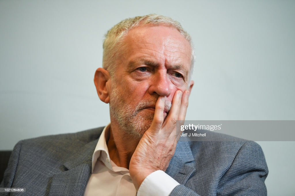 Labour Leader Meets With Asylum Seekers Threatened With Eviciton : News Photo