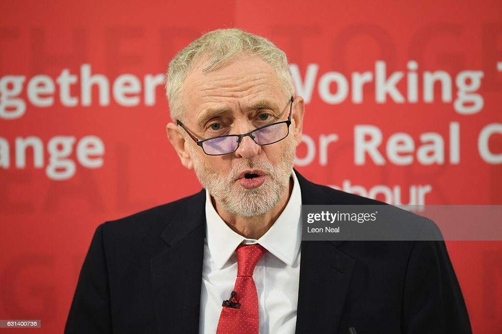 Jeremy Corbyn Gives Speech On The Labour Party's Plans for Brexit : News Photo