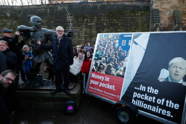 GBR: Jeremy Corbyn Launches New Labour Ad Van