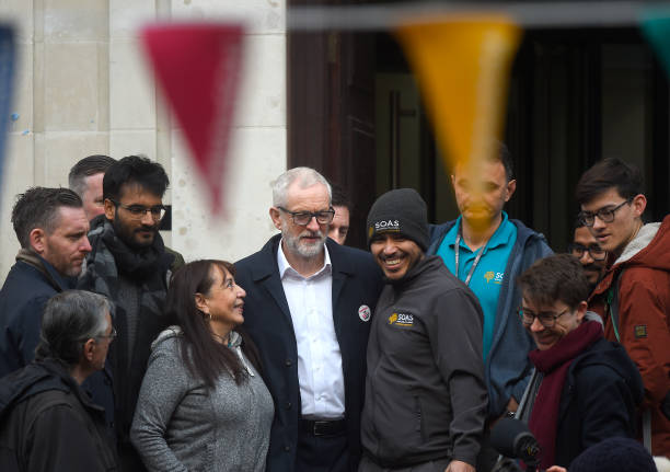 GBR: Jeremy Corbyn Supports Ancillary Workers Protesting At Birkbeck/SOAS