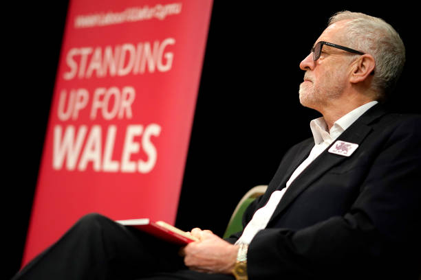 GBR: Jeremy Corbyn Campaigns On North Coast Of Wales