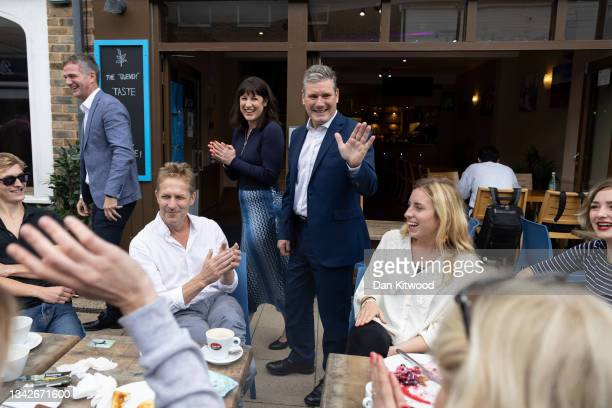 Labour leader Keir Starmer and Shadow Chancellor Rachel Reeves visit businesses in Hove on day two of the Labour Party conference on September 26,...