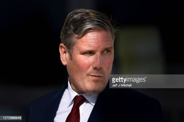 Labour leader Keir Starmer is interviewed outside the Chancellor's Building at The University of Edinburgh during his first visit to Scotland since...