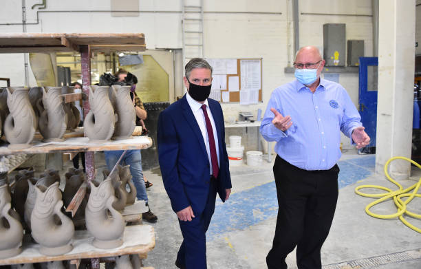 GBR: Keir Starmer Visits Stoke Potteries To Talk Jobs, Jobs, Jobs