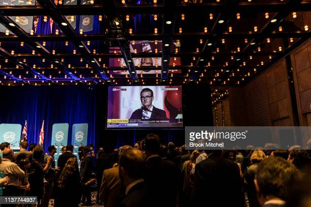 Labour leader Michael Daley makes a concession speech on March 23 2019 in Sydney Australia The 2019 New South Wales state election is being held to...