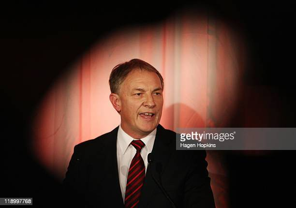 Labour leader Phil Goff speaks during Labour's long term financial plan announcement at Westpac Stadium on July 14, 2011 in Wellington, New Zealand....
